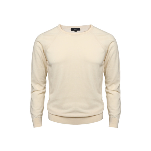 18SS Crewneck Longsleeves Knit_Cream