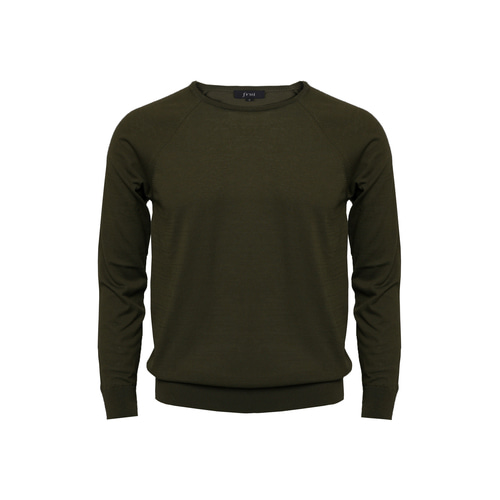 [60% SALE] 18SS Crewneck Longsleeves Knit_Olive