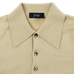 Supimacotton Shortsleeves Collar Knit_Sand Beige
