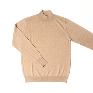 Elegance Half-Turtleneck Knit_Beige