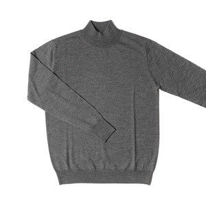 Elegance Half-Turtleneck Knit_Medium Gray