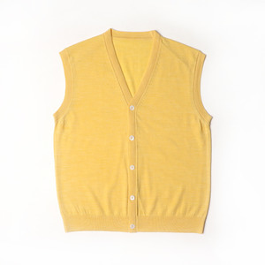 Cashmere Blended Knitting Vest Cardigan_Light Yellow