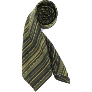 [30% SALE] Green Geometric Regimental Necktie