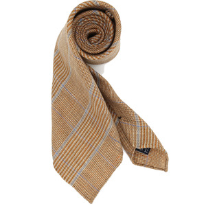 Orange Glenchecked Necktie