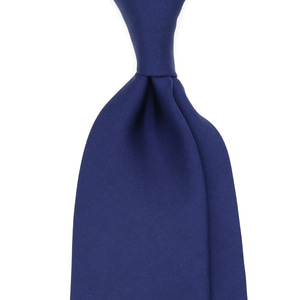 [50% SALE][BASIC] Solid Color Silk Necktie_Navyblue