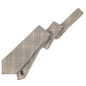 [30% SALE] LightBrown Glenchecked Wool Necktie