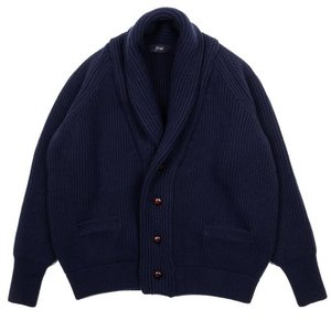 18FW Bulky Shawl Collar Cardigan_Navy