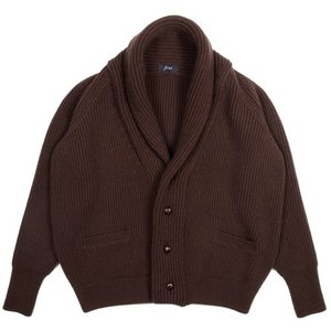 18FW Bulky Shawl Collar Cardigan_Brown