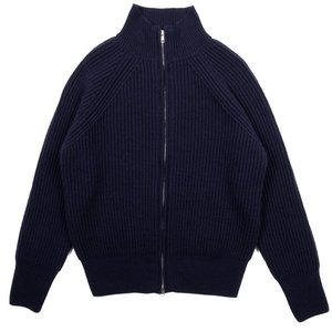 18FW Bulky 2way Zip-up Longsleeves Cardigan_Navy