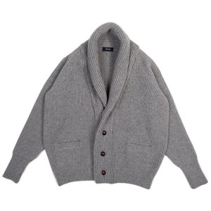 18FW Bulky Shawl Collar Cardigan_Light Gray