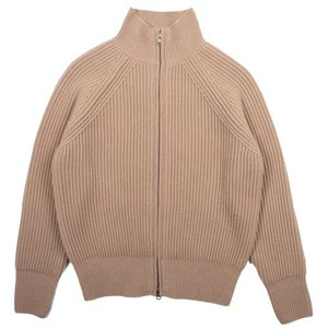 18FW Bulky 2way Zip-up Longsleeves Cardigan_Light Beige
