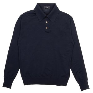 18FW Collar Longsleeves Knit_Navy
