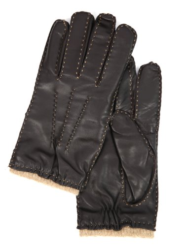 18 FW GLOVES _ 6 _ LAMBSKIN  _ DARK BROWN