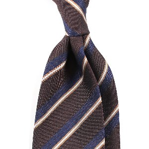 Regimental Silk Necktie_Brown