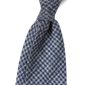 [BASIC] Wool&Silk Blue Gunclubchecked Necktie