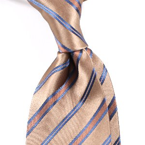 Elegant Regimental Silk Necktie_Light Gold