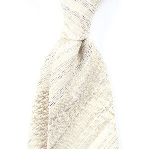 [BASIC] Linen&Silk Regimental Necktie