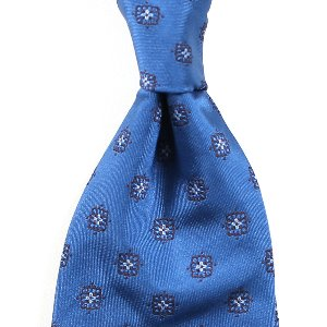 Classical Pattern Silk Necktie_Skyblue&Brown