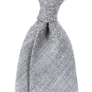 [BASIC] Gray Meshed Texture Necktie