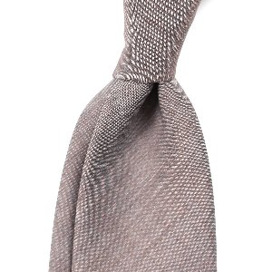 [BASIC] Wool&Mohair Sand-Brown Solid Necktie