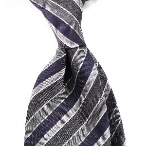 4Colors Regimental Silk Necktie_Navy&Gray