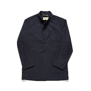 [MARYLEBONE] LINEN UTILITY JACKET_DARK NAVY