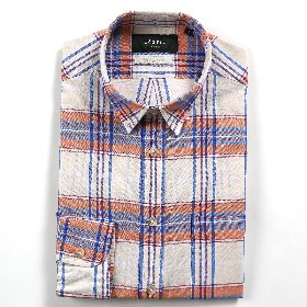 [SEDRIC] GRAND CHECKED MADRAS SHIRTS_IVORY