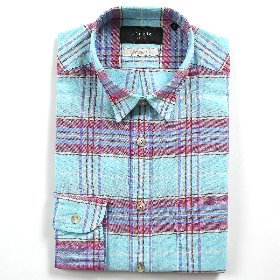 [SEDRIC] GRAND CHECKED MADRAS SHIRTS_EMERALD
