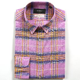 [SEDRIC] GRAND CHECKED MADRAS SHIRTS_PINK