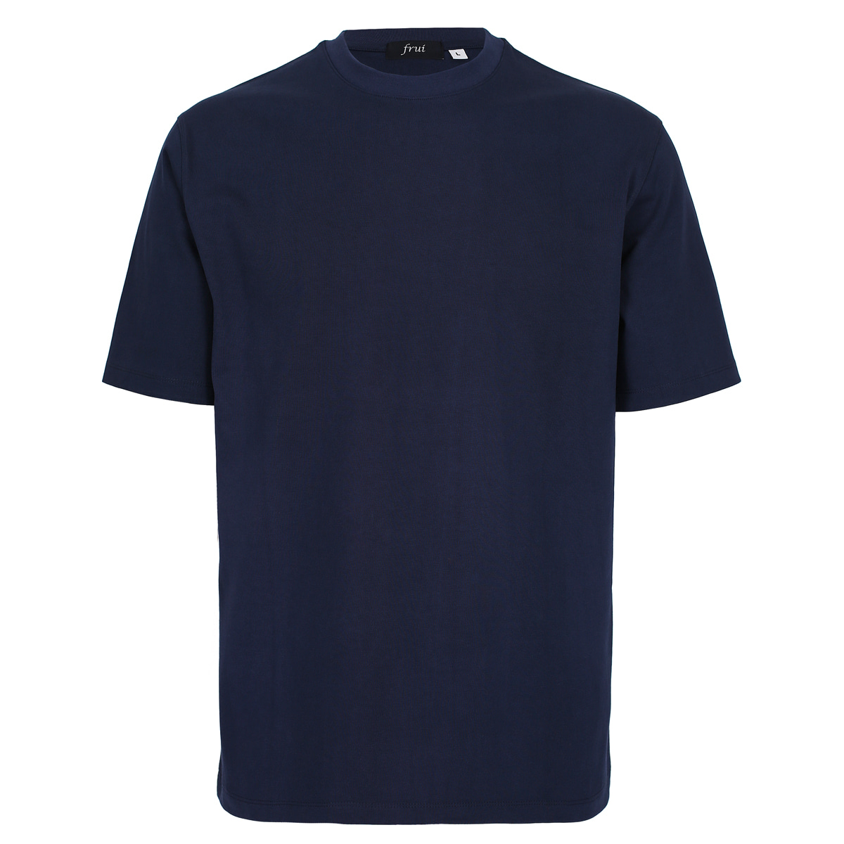 SILKET COTTON CREWNECK T-SHIRTS_NAVY