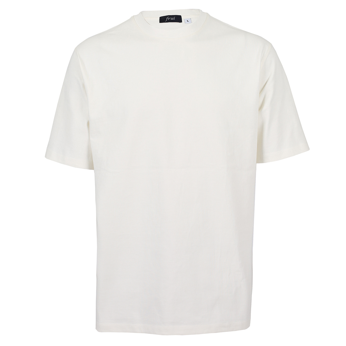 SILKET COTTON CREWNECK T-SHIRTS_OFF WHITE