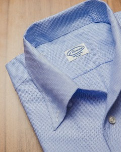 Open-Collar ; Skyblue Meshed