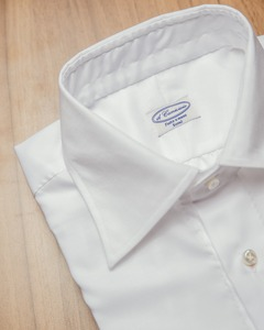 Regular-Collar ; White Poplin