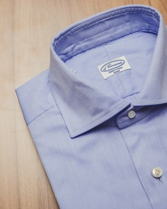 Regular-Collar ; Skyblue Twill