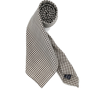 [30% SALE] Brown Gingham Checked Necktie