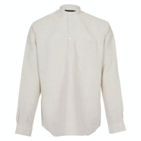 [SEDRIC] CHINO COLLAR PULL OVER SHIRTS_OATMEAL