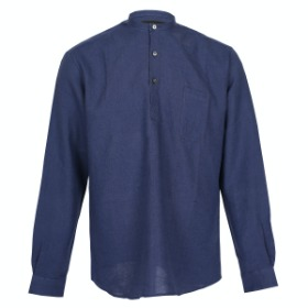 [SEDRIC] CHINO COLLAR PULL OVER SHIRTS_ROYAL BLUE