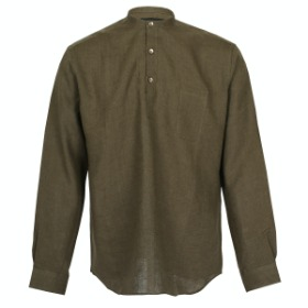 [SEDRIC] CHINO COLLAR PULL OVER SHIRTS_OLIVE