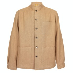 HERRINGBONE LINEN COMFORTABLE JACKET_LIGHT LUST
