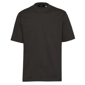 SILKET COTTON CREWNECK T-SHIRTS_CHARCOAL GRAY